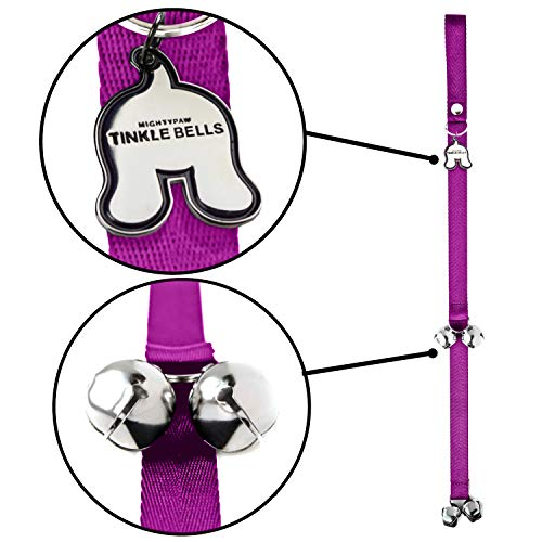 - Mighty Paw Tinkle Bells, Premium Quality Dog Doorbells, Housetraining Doggy Door Bells for Potty Training (Pink)