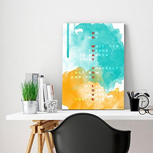 "ZENDORI WOOD ART ""Do What You Love"" Inspirational Wood Art Print – Wall Quote Decor (Wood Art, 12″ x 18″ x 3/4″)"