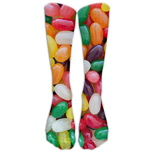 Easter Jellybean Athletic Tube Stockings Classics Knee High Socks Sport Long Sock One Size