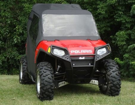 (Polaris Ranger RZR Full Cab Enclosure with Lexan Windshield by GCL UTV. Pair Clear/Tinted with Various Closure Colors. POLRZR-FCL)