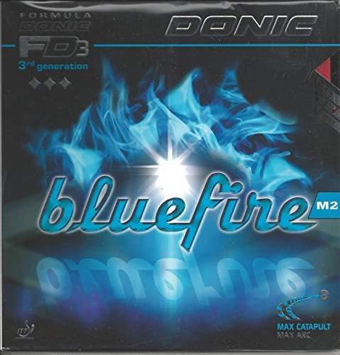 Donic Bluefire M2 Table Tennis Rubber (Red, 2.0 mm) by DONIC