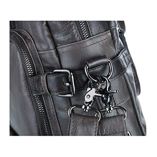 Minimaliste la Shoulder à Sac Sac à unique Main XLF usages Trois à Sac de Main Dos Carry à Casual Taille Peau Femme Vache Crossbody RPawtqT