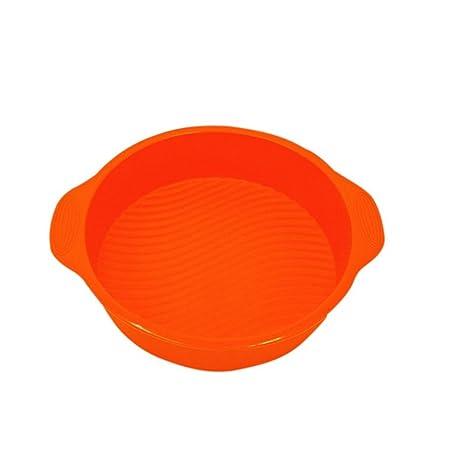 ESHOO redonda Cake Mold – Molde para hornear bandeja molde de silicona (Patry eléctrica,
