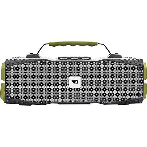 Dreamwave Elemental - Altavoz portátil con Bluetooth Resistente al Agua, Color Verde y Negro