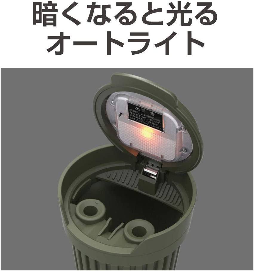 EXEA Japan Car Cover Portable Ashtray Cup Holder Mount Universal Military Design with Light Green EN-18