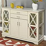 Wood Transitional Antique White Kendall Buffet