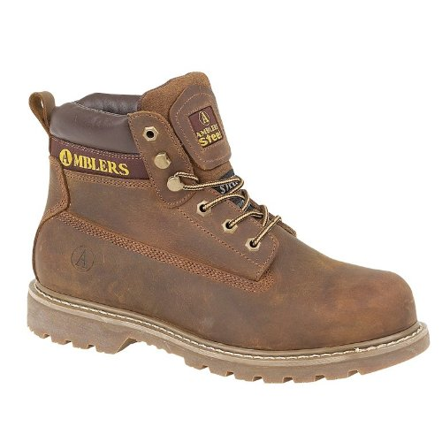 Amblers Safety Mens FS164 Welted Leather Safety Boots Brown Brown