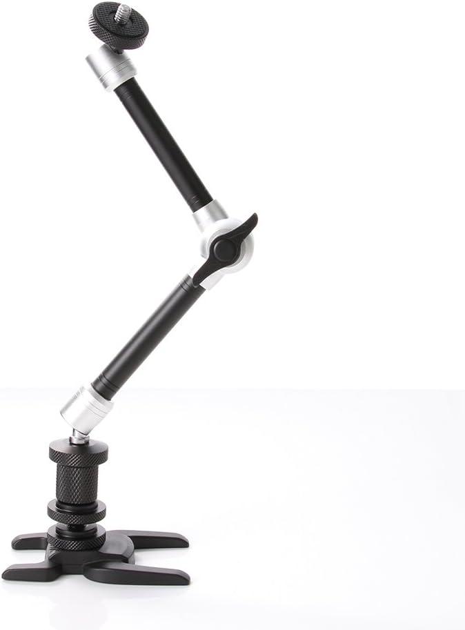 Silver/&Black, 11 Fotga 11 Adjustable Friction Articulating Magic Arm for DSLR LCD Monitor LED Light