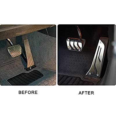 Signswise No Drill Anti-slip AT Fuel Gas Brake Pedal Cover For BMW 1 3 5 7 Series X3 X5 Z4: Automotive