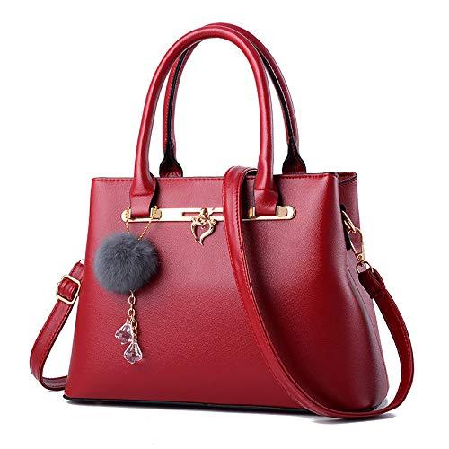hlh Hair European Handbag Rojo Fashion Bag negro Handbag American Diagonal Simple Ball And Vino 2018 7Bxqf4x