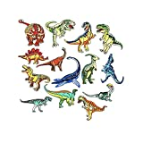 14 Pcs Dinosaur Iron on Patches Embroidered Motif Applique Assorted Size Decoration Sew On Patches for DIY Jeans Jacket, Clothing, Handbag, Shoes,Caps