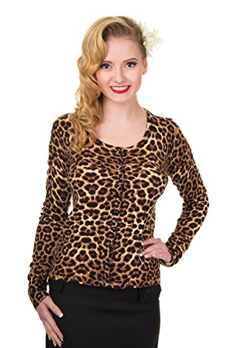 Leopard Print Ribbed Cardigan - Banned Crazy Love Leopard Print Cardigan - UK 14/US 10/EU 40