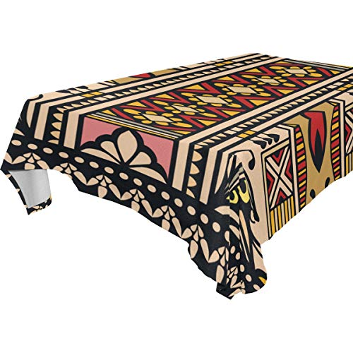 - MIMUTI Decor Tablecloth Bandana Print Silk Neck Scarf Kerchief Multicolor Rectangular Table Cover for Dining Room Kitchen Outdoor Picnic