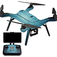 MightySkins Protective Vinyl Skin Decal for 3DR Solo Drone Quadcopter wrap cover sticker skins Blue Swirls