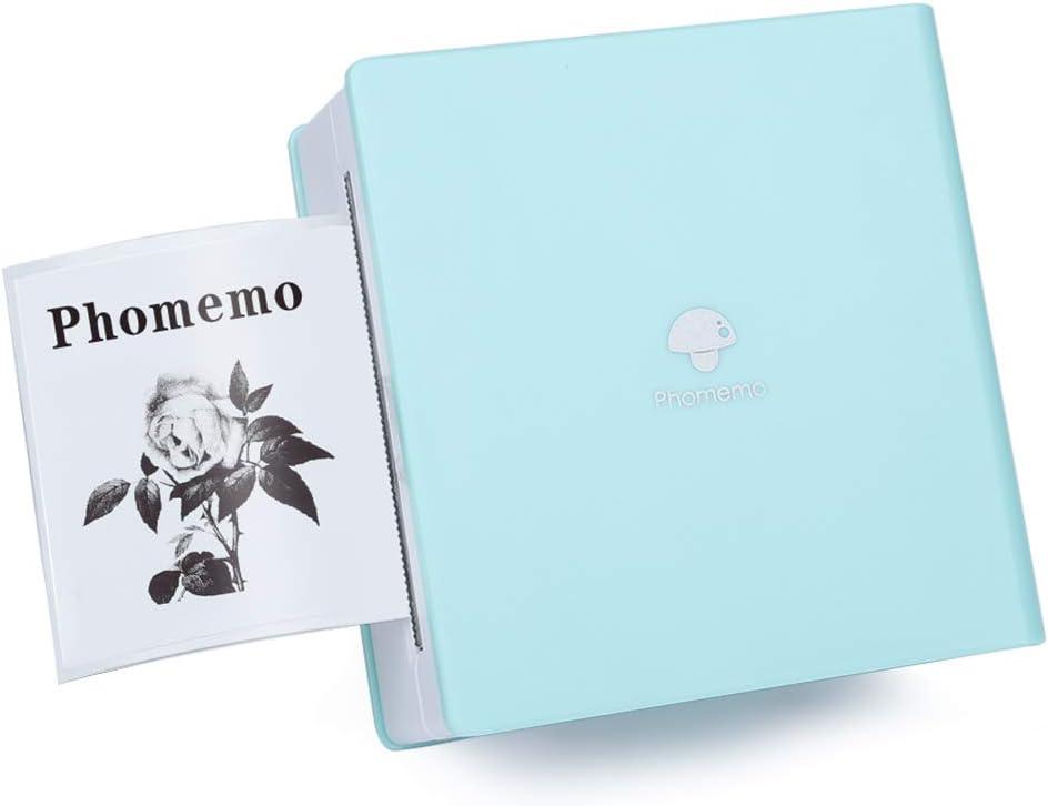 Phomemo Impresora Bluetooth Movil - Mini Impresora Portátil Térmica Photo, Compatible con Sistema iOS y Android, para Trabajar, Notas de Estudio, Memorándum, Fotos, Verde