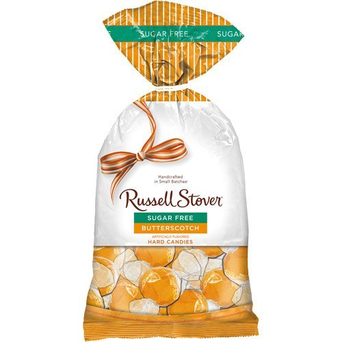 Russell Stover Sugar Free Butterscotch Hard Candies, 12 oz (Pack of 2)
