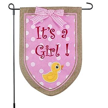 amazon new baby banner its a girl garden flag yard sign car