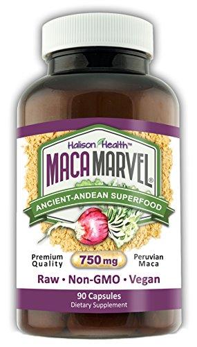Marvel de Maca Premium bio Maca gélules - Made in USA avec 100 % Maca péruvienne - sans additifs - sans OGM - Vegan Capsules