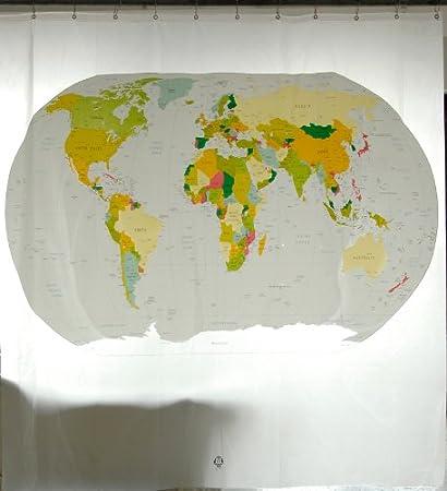 Amazon Com Izola Peva Water And Mold Resistant Shower Curtain