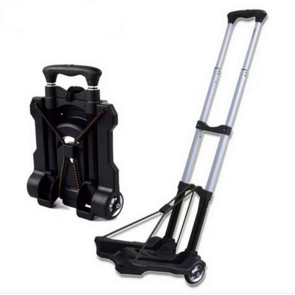 Portable Folding Hand Truck Dolly Utility Cart Foldable Trolley put in Backpack Push Luggage Flatbed Cart by nice--buy (Image #2)