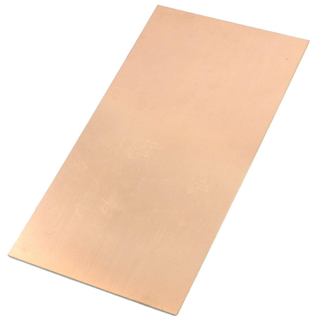Uxcell Rectangle Fr4 Copper Clad Laminate Pcb Printed Plain Copperclad Fibreglass Circuit Board Rapid Online 130x250mm Electronics