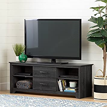 South Shore 11839 Fusion TV Stand with Drawers, Gray Oak,