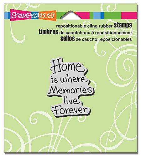 STAMPENDOUS Home Forever Rubber Stamp Cling
