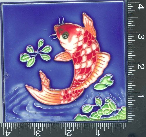 10, Decorative Tiles, TROPICAL FISH, Art, on, a, Ceramic, Tile, TILE, is about, 4