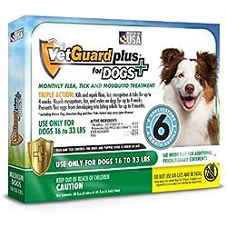 VetGuard Plus Flea & Tick Treatment for Dogs - Flea and Tick Prevention for Dogs