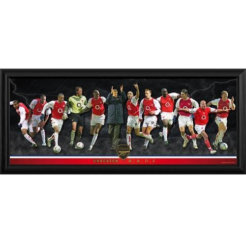 Arsenal F.C. Framed Panoramic Print Invincibles- Large Framed Panoramic Photographic Print- Features The 2004 Unbeaten Team And Manager- Approx 82Cm X 35Cm- Official Football Merchandise by Arsenal F.C.
