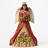 """Jim Shore for Enesco Heartwood Creek Angel with Butterfly in Glass Figurine, 9.25"""""""
