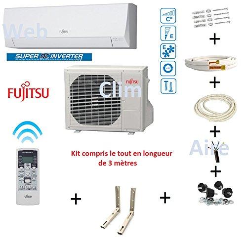 Climatiseur Atlantic Fujitsu ASYG 12 LLCC- 4Kw kit 3 mètres product image