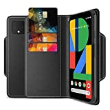 Maxboost mWallet Designed for Google Pixel 4 Case (2019, 5.7-inch) [Folio Cover] Premium PU Leather Credit Card Wallet Holder Compatible with Pixel 4 Flip Cover Side Pocket Magnetic Closure - Black
