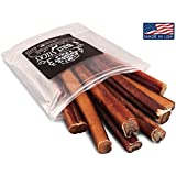 100% All Natural 6 Inch Bully Sticks Dog Chews (8 Count Resealable Package) Made in the USA From Free Range Beef By Hill Country Pets For Happy Healthy Dogs - USDA/FDA Approved
