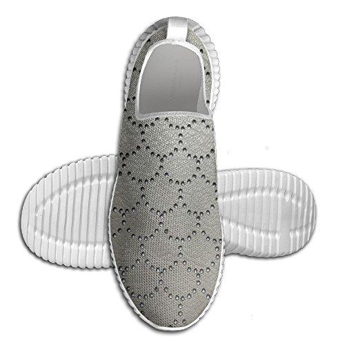 Oeuf Oeuf Sirène Écailles De Poisson Forme Femmes Mocassins Hommes Chaussures De Course Respirant Maille En Plein Air Sport Chaussures De Marche Blanc