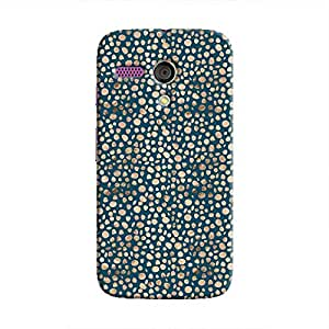 Cover It Up - Brown Navy Pebbles Mosaic Moto G Hard Case