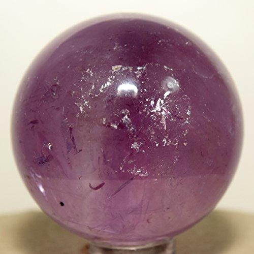 42Mm Amethyst Crystal Sphere Purple Natural Rare Polished Ball Quartz Mineral Gemstone