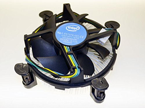 Intel E97379-001 Core i3/i5/i7 Socket 1150/1155/1156 4-Pin Connector CPU Cooler With Aluminum Heatsink and 3.5-Inch Fan For Desktop PC Computer ()