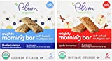 Plum Organics Mighty Morning Bar Variety Bundle: (1) Blueberry Lemon 3.35oz and (1) Apple Cinnamon 3.35oz (2 Pack Total)