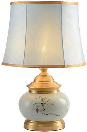 Cs Peinture à l'encre Lotus Fleur Lampe de Table en