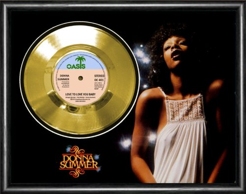 Donna Summer Love To Love You Baby Gold Vinyl Record Framed Display