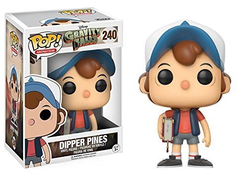 Regular Version Styles may vary 12373 Accessory Toys /& Games Miscellaneous Animation Dipper Pines Vinyl Figure #240 Funko Gravity Falls POP