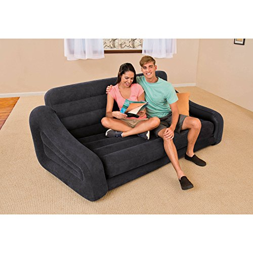 Intex Pull-out Sofa Inflatable Bed, 76' X 87' X 26', Queen