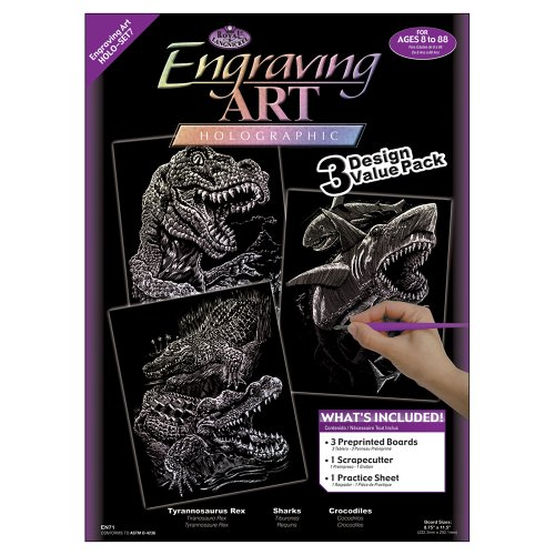Engraving Royal Art (Royal and Langnickel Engraving Art 3 Design Value Pack, Holographic)
