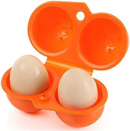 bleu As description Plastique Yesiidor les Grilles de 2/oeufs Box Portable /œufs Bo/îte de rangement Container support de transport pour camping pique-nique