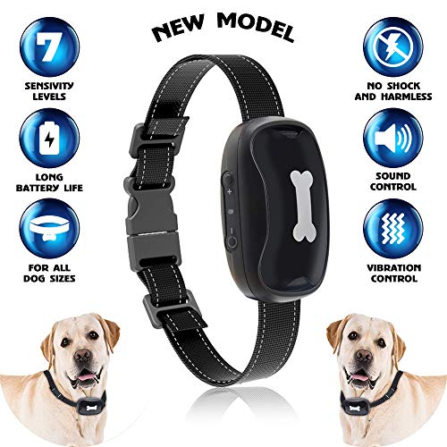Dog Bark Collar [2018New Version] Humanely Stops Barking with Sound and Vibration. No Shock, Harmless and Humane. Small Dog Bark Collar, Medium Dog Bark Collar Free Spirit Bark Collar Anti Bark by Bow2Wow