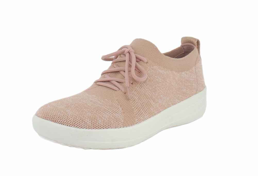 FitFlop F-Sporty Uberknit Sneakers 38 EU|Neon Blush/Urban White