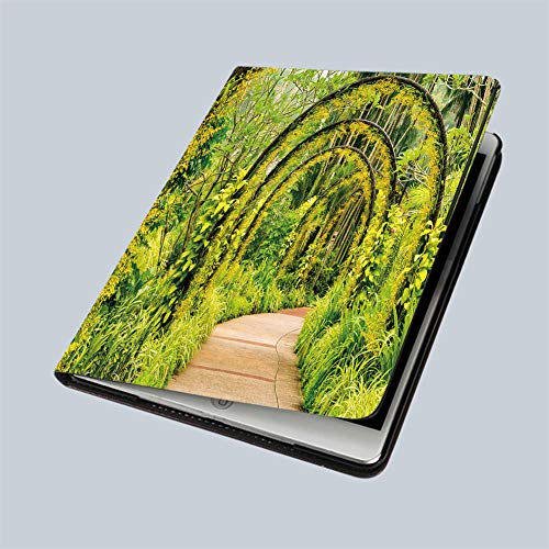 """iPad 9.7"""" 2018 / iPad Air 1/2 Case Arch Way of Yellow Orchid from Singapore National Orchid Garden 360 Degree Swivel Mount Cover for Automatic Sleep Wake up ipad case"""