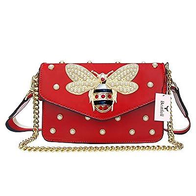 Beatfull Fashion Handbags for Women, Pu Leather Shoulder Bags Cross body bag with Bee