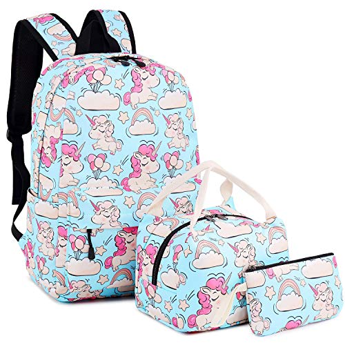 4bd30efd390a BLUBOON Backpack for School Girls Teens Bookbag Set Kids School Bag  Insulated Lunch Tote Bag Pencil Case